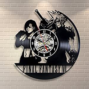 Amazon Com Final Fantasy Vii Vinyl Record Clock Home