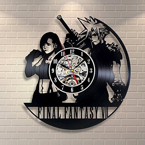 Final Fantasy VII Vinyl Record Clock Home Decor (Final Fantasy Merchandise)