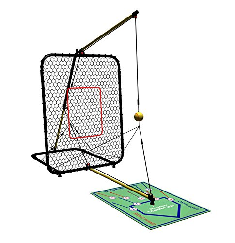 SwingAway Jennie Finch Gold Medal Edition SwingAway Hitting Trainer, Black/Yellow