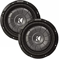Kicker 12 CVT package - Two Kicker 10CVT122 12 Inch 2-ohm CompVT Subwoofers