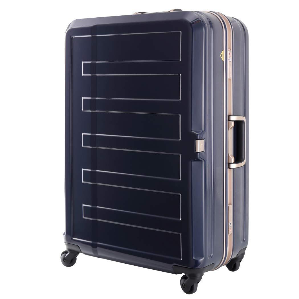 [アウトレット] 鏡面ボディ 細深溝フレーム スーツケース キャリーバッグ キャリーケース LEGEND WALKER レジェンドウォーカー Sサイズ B-5188-55 ネイビー   B07PPC4YB9