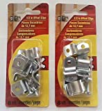 OOK 1/2 Inch Metal Offset Clip, 2 packs of 8 (16 Piece)