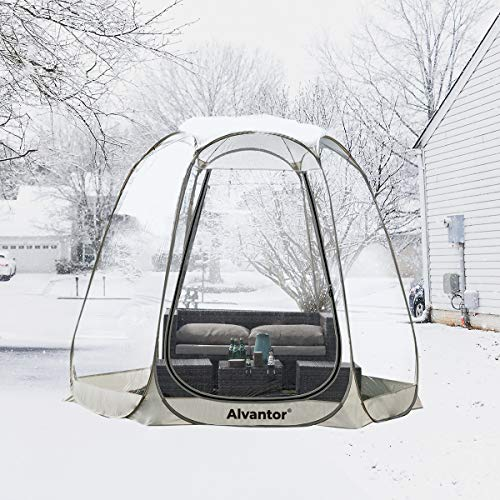 Alvantor Winter Screen House Room Camping Tent Canopy Gazebos 4-6 Person for Patios, Large Oversize Weather Pod, Premium…