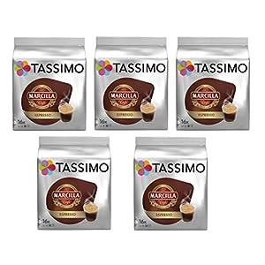 TASSIMO Marcilla Café Espresso – 5 paquetes de 16 cápsulas: Total 80 unidades 518AmwHfQAL