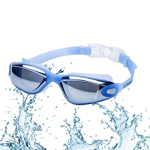 Swimming Goggles Roterdon Glasses Goggle Anti Fog UV Protection No Leaking And Mirrored Professional For Adults Mens Womens Chidrens Youth Junior Kids In Racing From ROTERDON Swim Store (Blue)