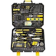 40pcs–Llave De Vaso Auto Herramientas de reparación combinación paquete mixto Juego de herramientas Kit de herramientas de mano con caja de herramientas de plástico caso de almacenamiento