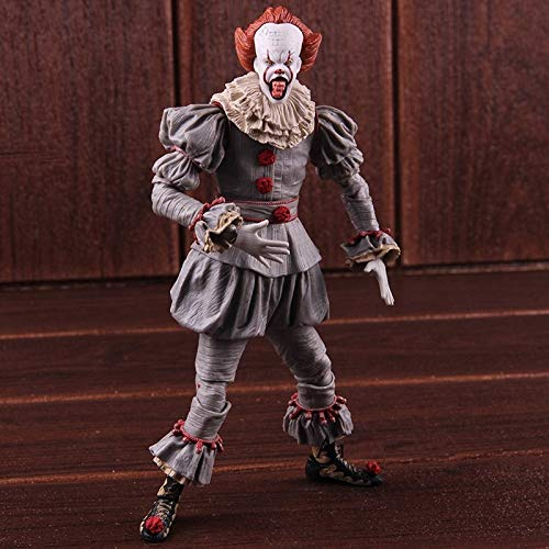 (PAPRING Pennywise Action Figures 7 inch PVC Hot Figure Horror Movie Big Toy Model Large Doll Gift Christmas Halloween Birthday Gifts Cute Animal Cool New Decoration Collection Collectible for)