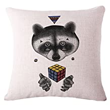 DavidOnlineStore Rubik's cube bear MJ:8944 Cushion Decorative Throw Pillow Case Pillow Cover 18 X 18 Inch