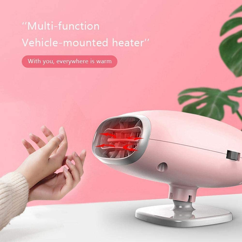 2 in 1 Portable Fast Heating Car Heater with Heating /& Cooling Function Defroster Defogger 12V 150W Demister Vehicle Heater Fan for Windshield Pink SONYANG Upgrade Car Heater Fan