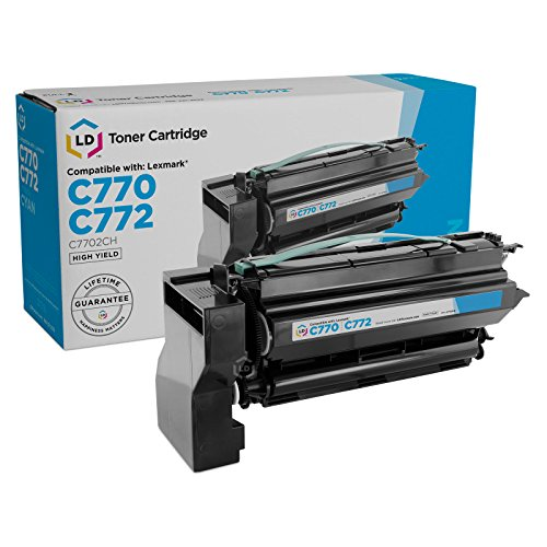 (LD Remanufactured Toner Cartridge Replacement for Lexmark C7702CH High Yield (Cyan))