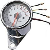 518AodmOgeL._AC_UL160_SR160160_ amazon com universal 13000 rpm scooter analog tachometer gauge motorcycle rpm wiring diagram at panicattacktreatment.co