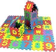 melysUS 36pcs/Set Kids Foam Alphabet Number Puzzle Mini Kids Crawling Foam Mat Baby Educational Toys Foam Crawling Playmats,