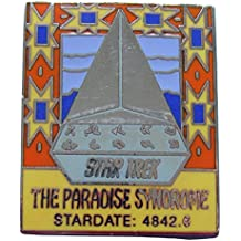 Enamel pin Star Trek episode Paradise Syndrome out-of-production vintage
