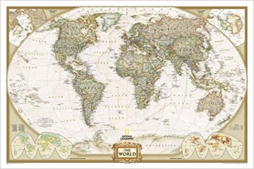 World executive wall map laminated national geographic maps world executive wall map laminated national geographic maps 0749717220874 books amazon gumiabroncs Image collections