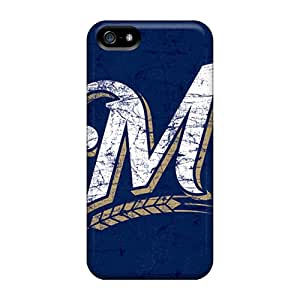 First-class Case Cover For Iphone 5/5s Dual Protection Cover Milwaukee Brewers