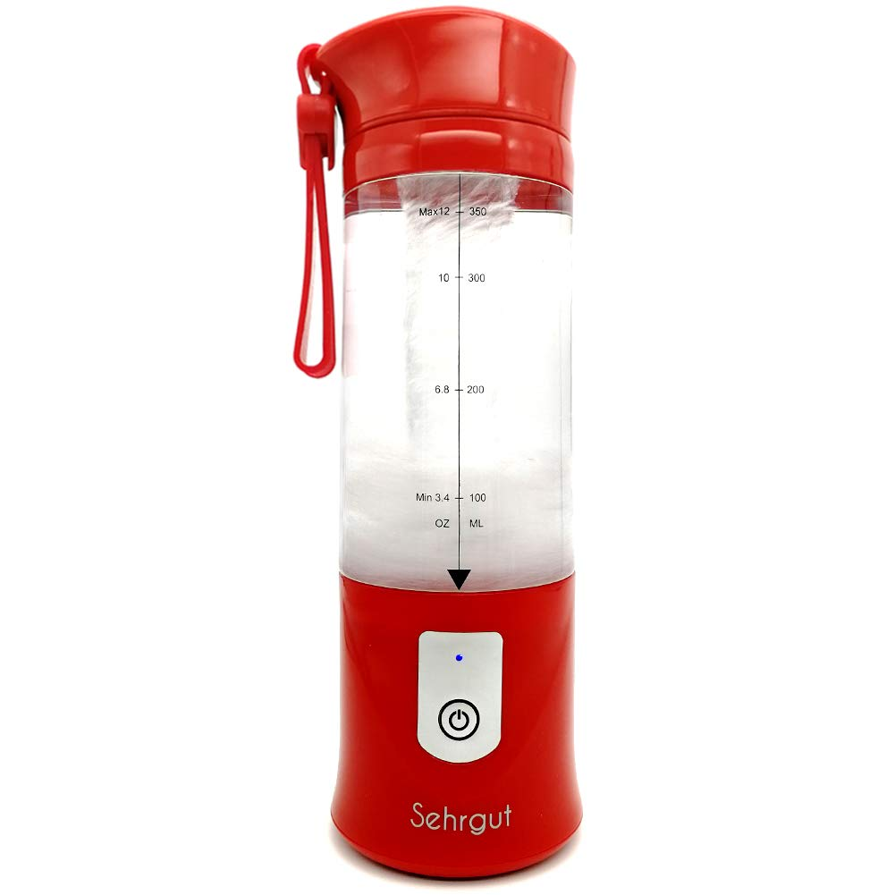 Sehrgut Portable Personal Smoothie Blender,USB Single Serve Rechargeable 14.2-oz Blender with USB cable as a Travel,Work,Gym BPA Free Juicer,Red