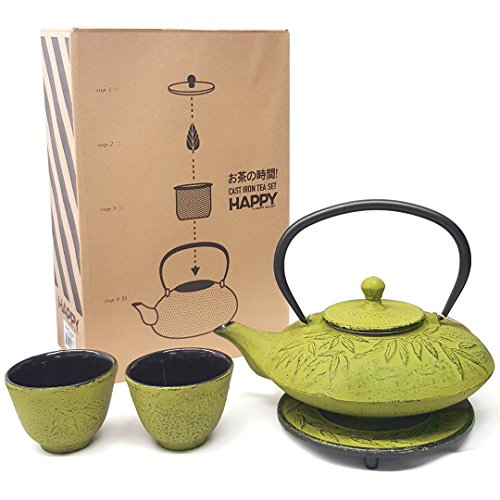 (Happy Sales HSCT-MBY08 TS9-06Y CAST IRON TEA SET, One Size, Green)