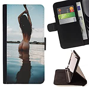 King Case - FOR HTC Desire 820 - You complete me - Prima caja de la PU billetera de cuero con ranuras para tarjetas, efectivo Compartimiento desmontable y correa para la mu?eca