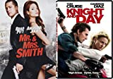 Knight And Day & Mr. & Mrs. Smith DVD 2 Pack Action Movie Set Star Double Team