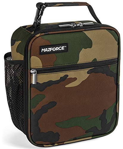 MAZFORCE Original Lunch Box Insulated Lunch Bag - Tough & Spacious Adult Lunchbox to Seize Your Day (Camo - Lunch Bags Designed in California for Men, Adults, Women) (Insulated Box Lunch Camo)