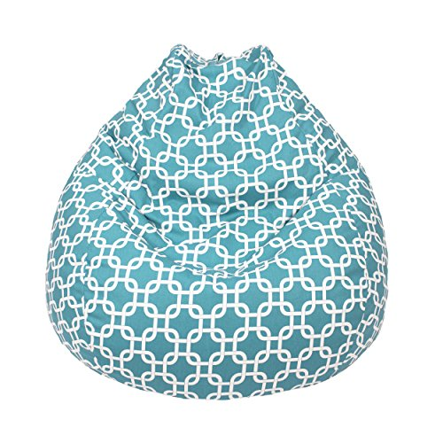 Gold Medal Bean Bags Teardrop Gotcha Hatch Print Pattern Bean Bag, Large, Turquoise