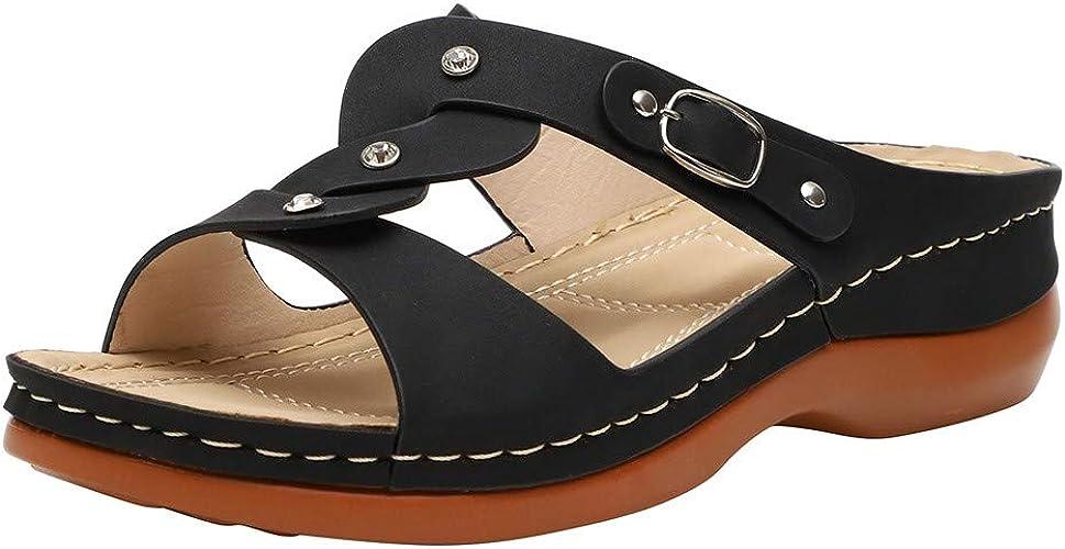 Women Wedges Wide Fit Sandals - Ladies