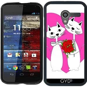 Funda para Motorola Moto X (Generation 1) - Gatos Lindos De San Valentín Del Corazón by Blingiton