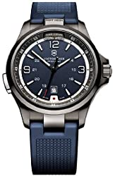Victorinox Swiss Army Blue Dial Stainless Steel Rubber Quartz Men's Watch 249069