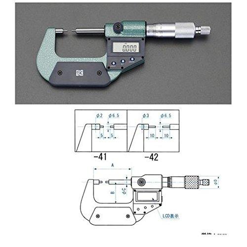 【キャンセル不可】CV55116 0-25mm/φ3mm マイクロメーター【デジタル/細軸】 B019EV4HSQ