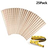 25 Pack Wood Rulers Wooden Ruler School Rulers Office Rulers and Clothing Measuring Rulers, 2Scale (12Inch and 30CM) ...