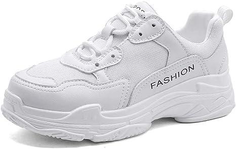HDWY Zapatillas De Correr De Poca Ayuda para El Ocio De Las Mujeres, Zapatillas De Deporte Ligeras con Amortiguador De Aire De Moda para Las Niñas Parte Inferior Gruesa Zapatillas,B,6.5: Amazon.es: Deportes