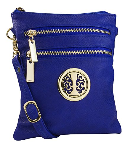 Mia K. Farrow Women's Trios Crossbody Handbag, Royal Blue ()