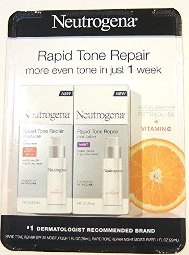 Neutrogena Rapid Tone Repair Combo Pack, Day and Night Moisturizer (total net wt 2 fl oz)