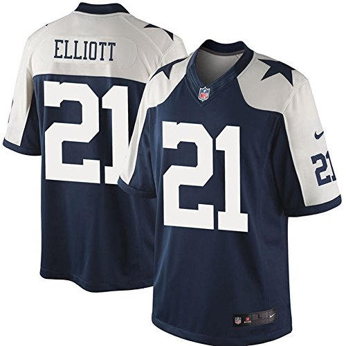 Ezekiel 21 Elliott Jersey Mens American Football Limited Jerseys Navy Alternate color Size S