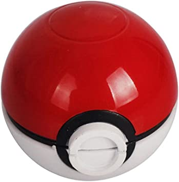 Image of HIBRON Grinder Pokemon Picador Pokeball Spice Mill 3 Piezas 2 Pulgadas trituradora