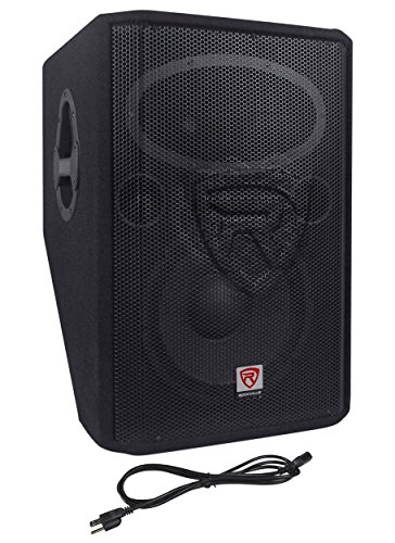 Rockville RSM12A 12'' 1000 Watt 2-Way Powered Active Stage Floor Monitor Speaker by Rockville