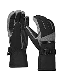 Terra Hiker Waterproof Microfiber Winter Ski Gloves 3M Thinsulate Insulation for Men