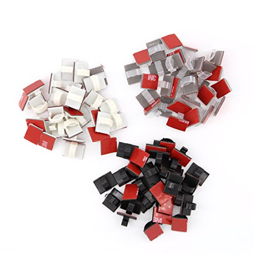 Cheap  Adhesive Reusable Mixed-color Cable Clips 90 Pack – Self Locking Wire Clips..