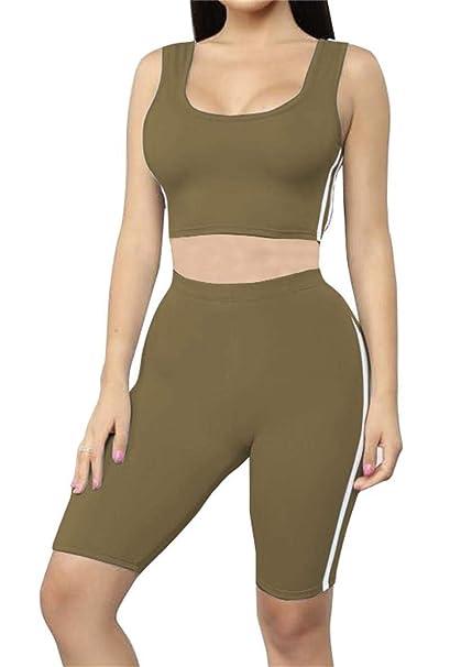 Amazon.com: Conjunto de pantalón corto de dos piezas para ...