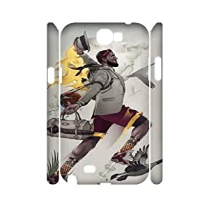 Samsung Galaxy Note 2 N7100 LeBron James 3D Art Print Design Phone Back Case Personalized Hard Shell Protection DFG059561