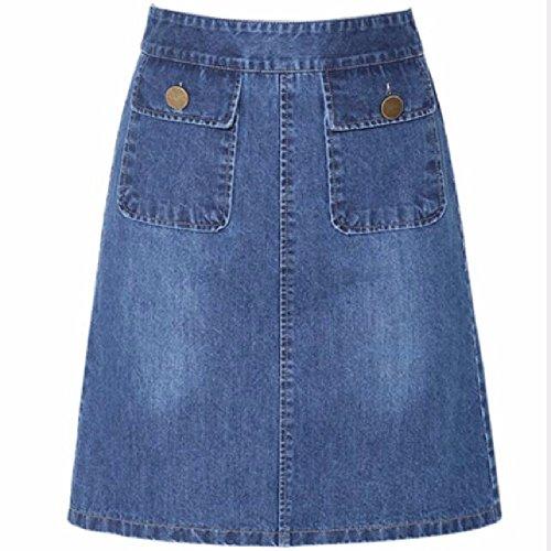 Jupe Blue Jupe Haute Jupe Une QPSSP en Jupe Jupe Taille Jupe Jupe Jean Rw7xxqndAz