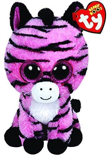 Ty Beanie Boos Zoey The Pink Zebra Plush Medium (Beanie Zig Zag)