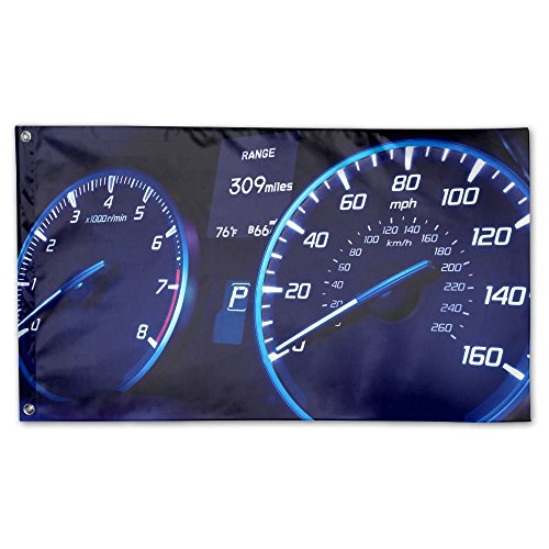 Garden Flag Car Speedometer Outdoor Yard Home Flag Wall Lawn
