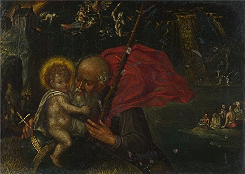 The Perfect Effect Canvas Of Oil Painting 'German Saint Christopher Carrying The Infant Christ ' ,size: 12 X 17 Inch / 30 X 43 Cm ,this High Resolution Art Decorative (Christopher Robin Costume Ideas)