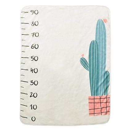 Imagen para Manta para bebé con diseño de lunares, ideal para fotografiar al recién nacido, para bebés y niñas, suave y acogedora, ideal para regalar en la fiesta del bebé Cactus