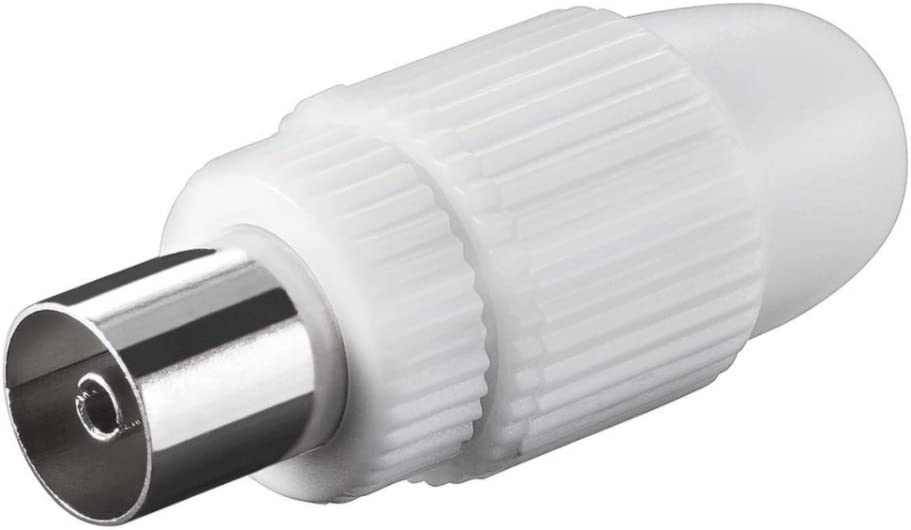 tecnostore® Conector coaxial hembra PVC blanco enchufe ...