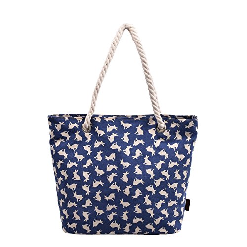 dgy-womens-print-canvas-tote-bag-beach-bag-shopping-bag-shoulder-bag-with-thick-rope-g00252-blue-rab