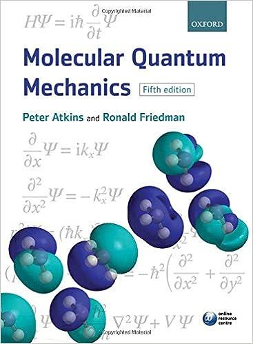 Molecular Quantum Mechanics Peter W Atkins Ronald S