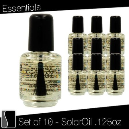 Lot 10 CND Essentials SOLAR OIL .125 oz Nail Cuticle Condition Polish Treatment