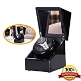 [Pure Handmade] Single Watch Winder with Japanese Mabuchi Motor 01B (black)